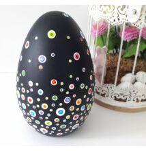 Pontfestett kerámia tojás pöttyös