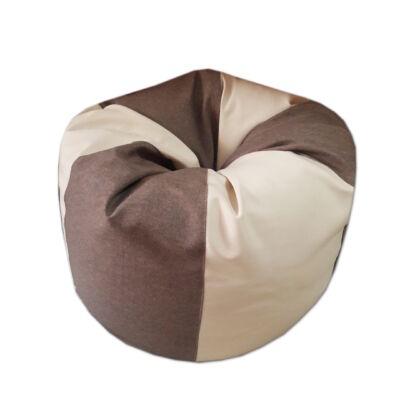 Felnőtt babzsákfotel csepp alakú barna-beige