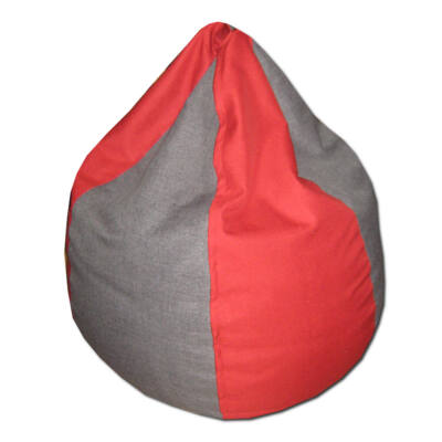 Csepp-babzsák-piros-szürke