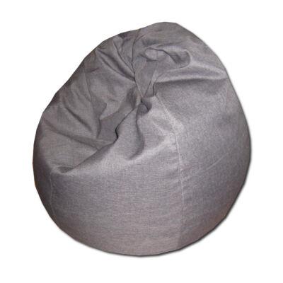 Szürke csepp alakú babzsák