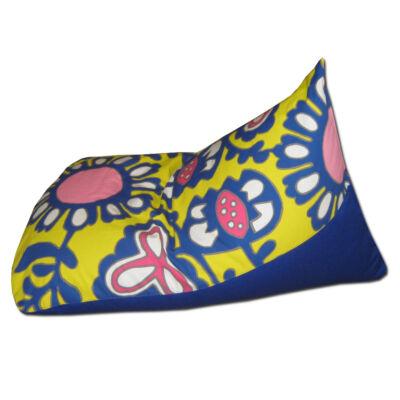 Tüske-babzsák-virágos-kék