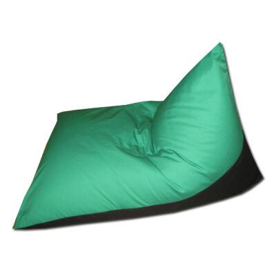 Zöld-fekete vászon tüske fazonú babzsák