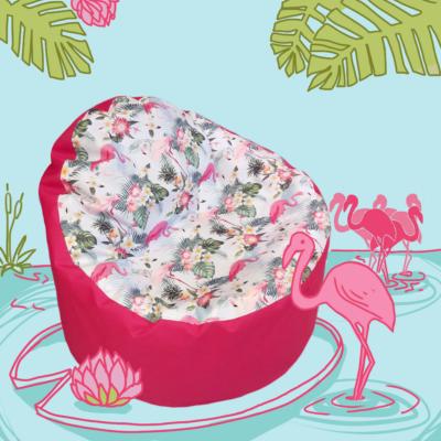 Babzsákfotel gyerekeknek flamingós lányos