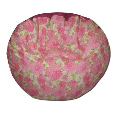 pink-virágos-fánk-babzsák