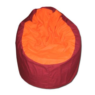 Babzsák-bordó-narancs