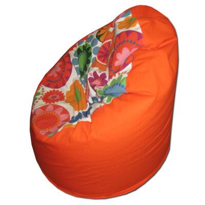 Narancs-virágos standard babzsák