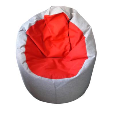 Szürke-piros-babzsák