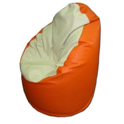 Beige-narancs-textilbőr-kamasz-babzsák