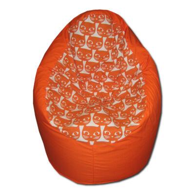 Cicás-babzsák-narancs