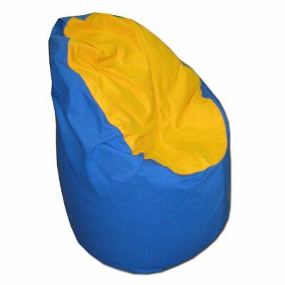 Kék-sárga közepes fotel fazonú babzsák