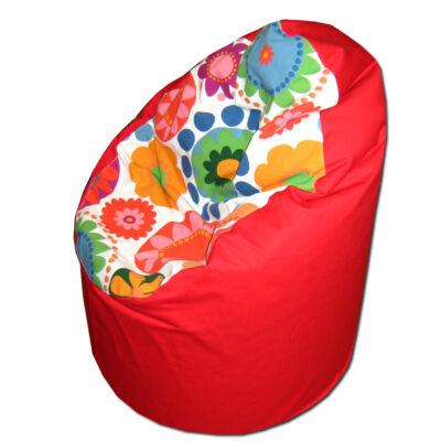 piros-ikea-virágos-kamasz-babzsák