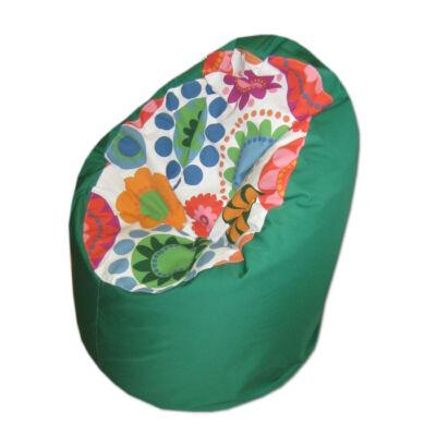 zöld-virágos-kamasz-babzsák