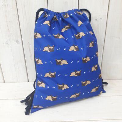 Bulldogos gymbag kék