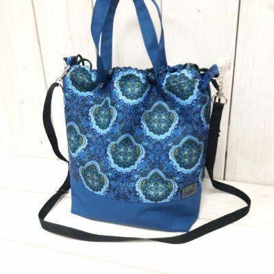 kék mandalás táska