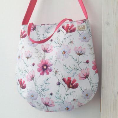 Suzie, pink virágos táska