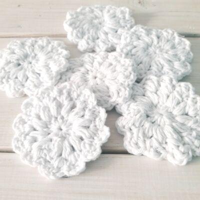 Fehér virág arctisztító korong