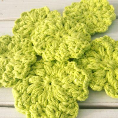 Zöld virág arctisztító korong