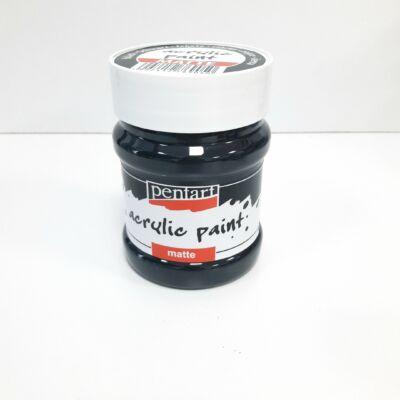 fekete akril festék