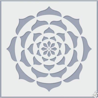 mandala stencil pontfestéshez
